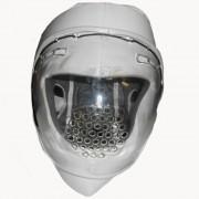 Шлем для единоборств с защитной маской Ayoun ПУ (белый)