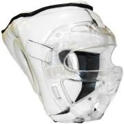 Шлем для единоборств с защитной маской Ayoun кожа (белый)