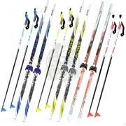 Комплект беговых подростковых лыж STC (лыжи+палки стеклопластик+крепление NN75)