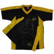 Форма футбольная детская Kappa (черный/желтый)