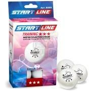 Мячи для настольного тенниса Start Line Training 3* (белый)