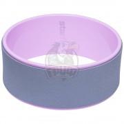 Колесо для йоги Starfit 32 см (серый/розовый)