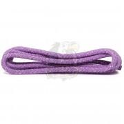 Скакалка для художественной гимнастики с люрексом Amely 3 м (сиреневый/серебряный)