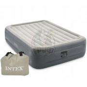 Матрас-кровать надувная полутораспальная + электронасос Intex Queen Essential Rest Airbed