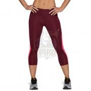 Тайтсы спортивные женские Asics Capri Tight (бордовый)
