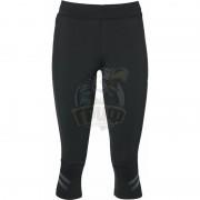 Тайтсы спортивные женские Asics Knee Tight (черный/серый)