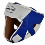 Шлем боксерский Vimpex Sport ПУ (белый/синий)