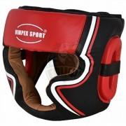 Шлем боксерский Vimpex Sport ПУ (красный/черный)