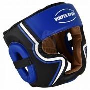 Шлем боксерский Vimpex Sport ПУ (синий/черный)