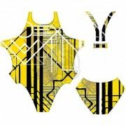 Купальник спортивный Finis Custom Bladeback (желтый/черный)