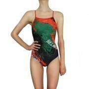 Купальник спортивный Finis Custom Skinback (зеленый/черный/красный)