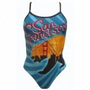 Купальник спортивный Finis Collection Skinback San Francisco (синий/черный)
