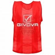 Манишка тренировочная Givova Casacca Pro Allenamento (красный)
