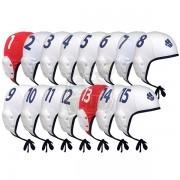 Комплект шапочек Mad Wave для игры в водное поло (белый)