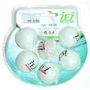Мячи для настольного тенниса ZEZ Sport (белый)