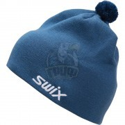 Шапочка лыжная Swix Tradition (серо-голубой)
