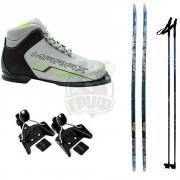 Комплект беговых лыж STC с палками, креплением NN-75 и ботинками Marax MX-75