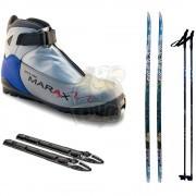Комплект беговых лыж STC с палками, креплением SNS и ботинками Marax MXS-500