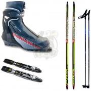 Комплект беговых лыж Brados Pro Skate с палками, креплением NNN и ботинками Marax MJN 1000