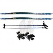 Комплект беговых лыж STC с палками из стекловолокна и креплением NN-75