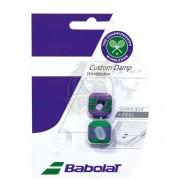Виброгаситель Babolat Custom Damp Wimbledon x2 (зеленый, фиолетовый)