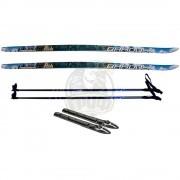 Комплект беговых лыж STC с палками из стекловолокна и креплением SNS