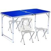 Стол туристический (складной стол + 4 стула)