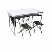 Стол туристический складной + 4 стула Atemi
