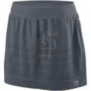 Юбка теннисная женская Wilson Power Seamless 12.5 Skirt Women (серый)