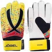 Перчатки вратарские Jogel One Wizard AL3 Flat (желтый)
