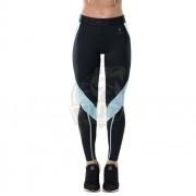 Тайтсы спортивные женские Fifty Shape UP (черный/голубой)