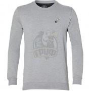 Толстовка спортивная мужская Asics Chest Logo Crew (серый)