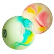 Мяч для художественной гимнастики Effea 190 мм (белый/желтый/голубой)