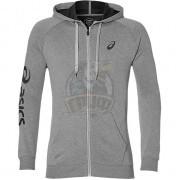 Толстовка спортивная мужская Asics Big Fz Hoodie (серый)