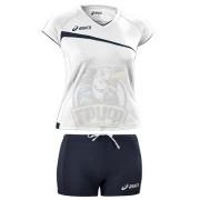 Форма волейбольная женская Asics Volley Set (белый/синий)