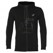 Толстовка спортивная мужская Asics Chest Logo FZ Hoodie (черный)