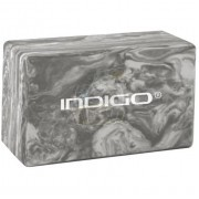 Блок для йоги Indigo (мраморный/серый)