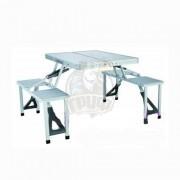 Стол туристический (складной стол + 4 табуретки) Fora