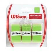 Обмотка для теннисной ракетки Wilson Pro Soft Overgrip (зеленый)