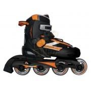Роликовые коньки раздвижные Vimpex Sport (черно-оранжевый)
