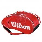 Чехол-сумка Wilson Tour Molded 2.0 на 9 ракеток (красный)