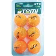 Мячи для настольного тенниса Atemi 3* (оранжевый)