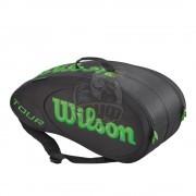 Чехол-сумка Wilson Tour Molded на 9 ракеток (черный/зеленый)