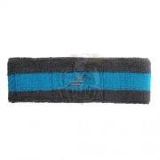Повязка головная Babolat Reversible Headband Double Line (черный/синий)