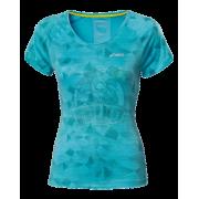 Футболка спортивная женская Asics Graphic Scoop Top (голубой)