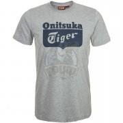 Футболка спортивная мужская Onitsuka Tiger Logo Tee (серый)