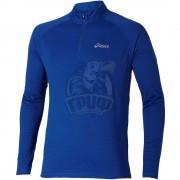 Футболка спортивная мужская Asics Ls 1/2 Zip Top (синий)