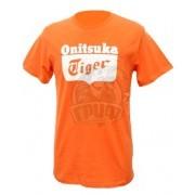 Футболка спортивная мужская Onitsuka Tiger Logo Tee (оранжевый)