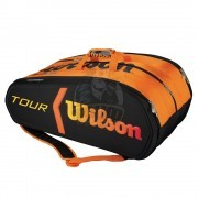 Чехол-сумка Wilson Tour Molded Burn на 15 ракеток (черный/оранжевый)