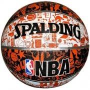 Мяч баскетбольный тренировочный Spalding NBA Graffiti Outdoor №7